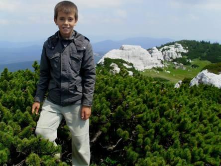 Dječak na slici je imao 10 godina kad je popeo Srednju Klekovaču (1810m) iako je uspon bio alpinistički